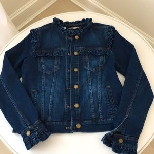 Karl Lagerfeld Denim Ruffled Jacket